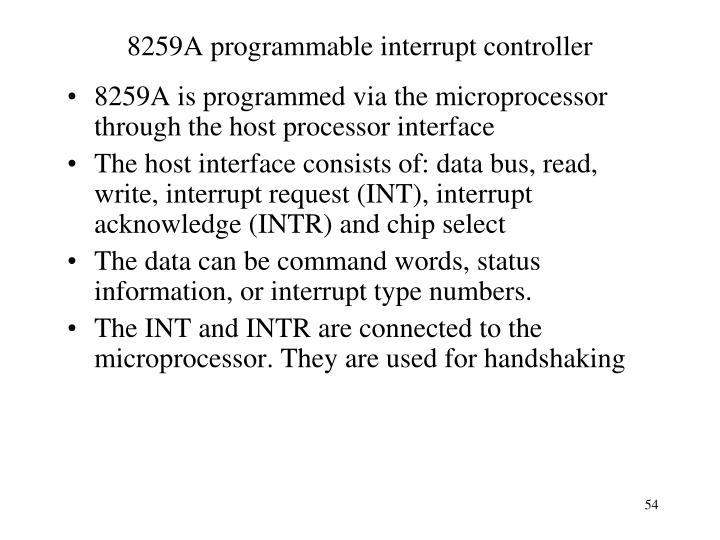 8259A programmable interrupt controller