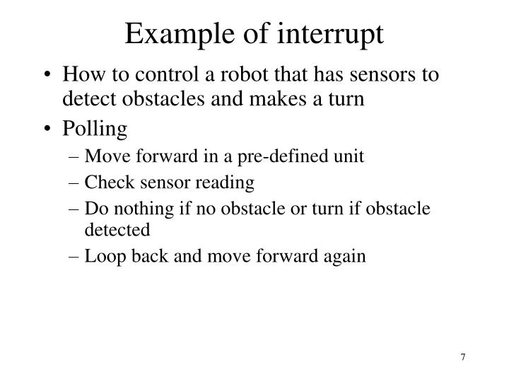 Example of interrupt