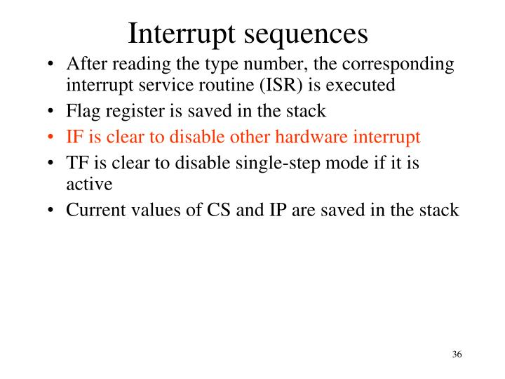 Interrupt sequences