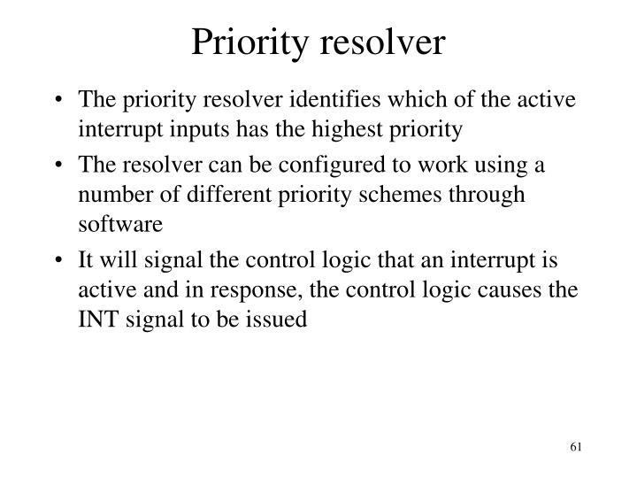 Priority resolver