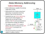 data memory addressing