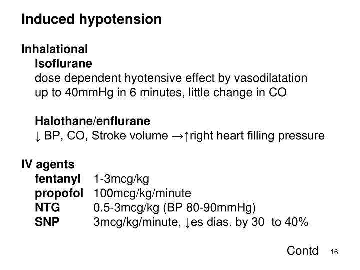 Induced hypotension