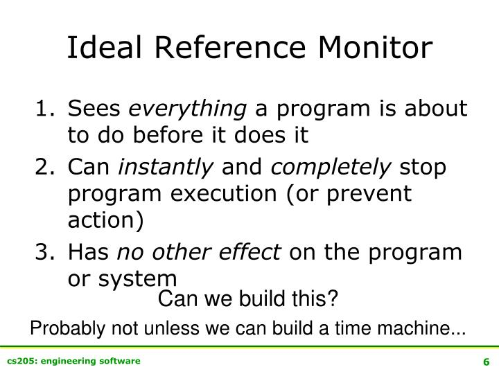 Ideal Reference Monitor
