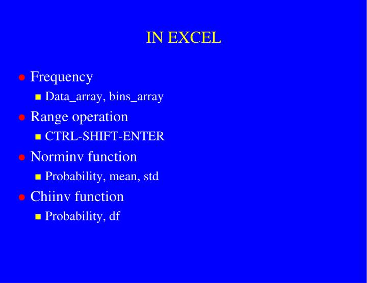 IN EXCEL