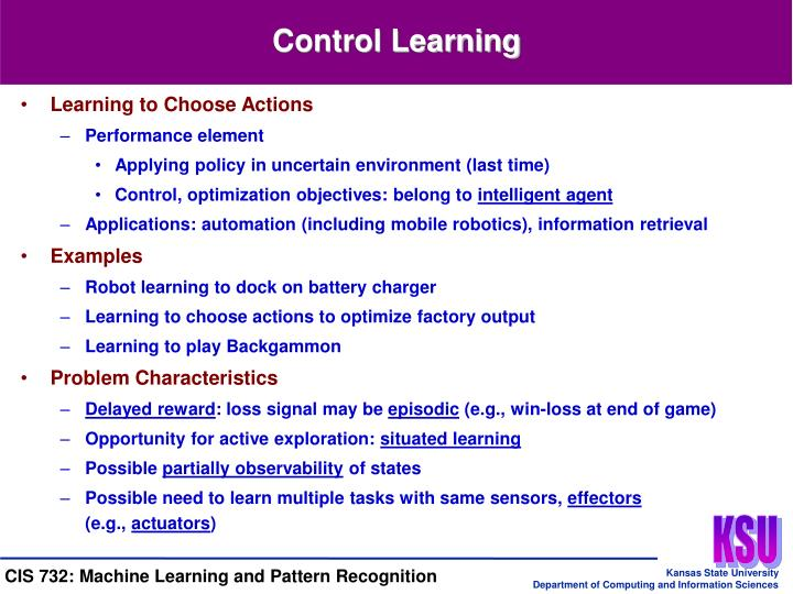 Control Learning