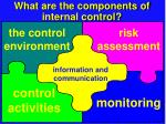 what are the components of internal control
