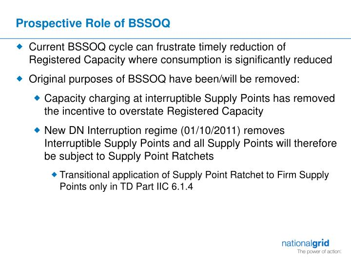 Prospective Role of BSSOQ