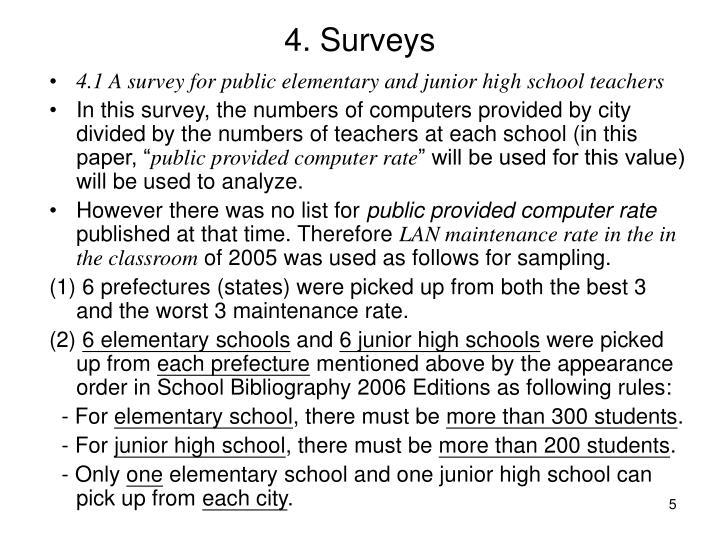 4. Surveys