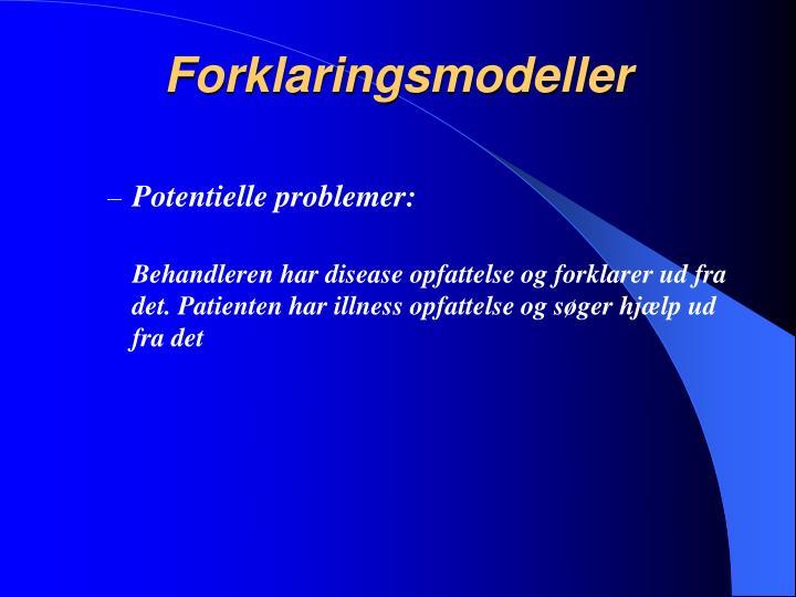 Forklaringsmodeller