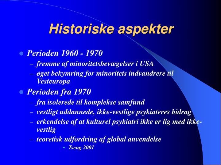 Historiske aspekter