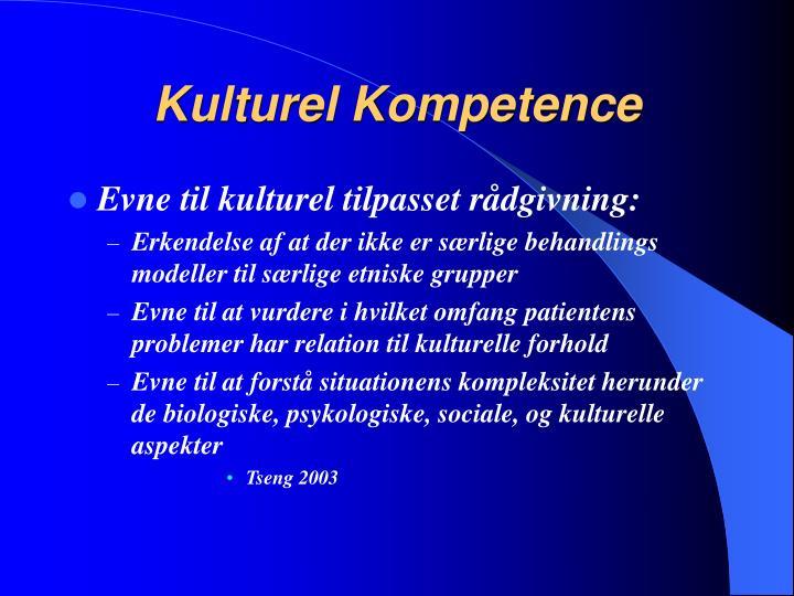 Kulturel Kompetence