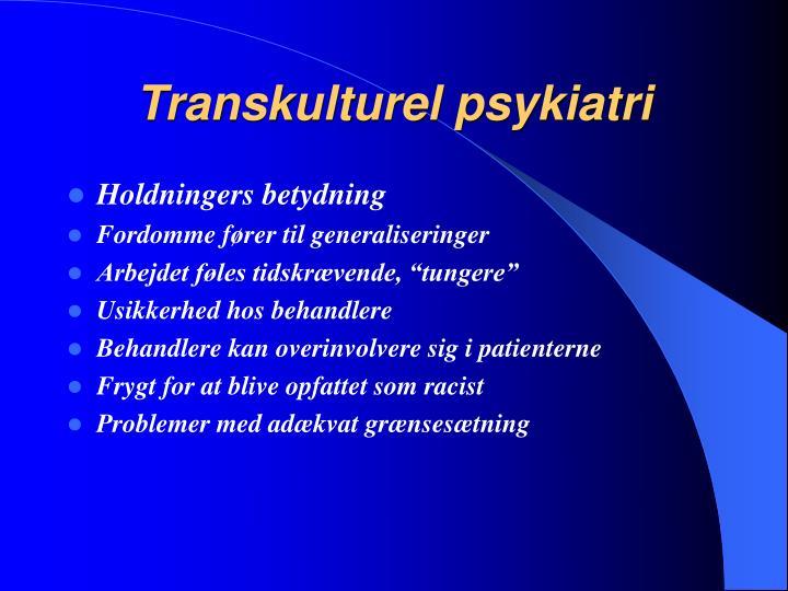 Transkulturel psykiatri