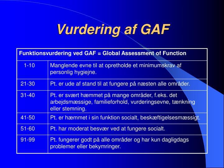 Vurdering af GAF