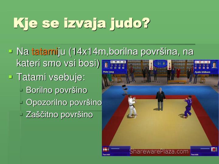 Kje se izvaja judo?