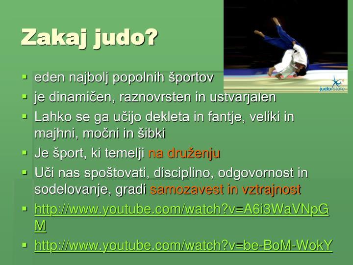 Zakaj judo?