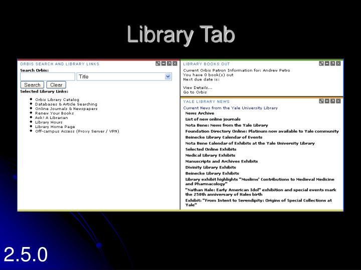 Library Tab