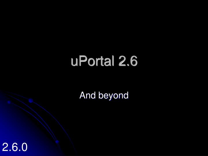 uPortal 2.6