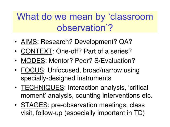 how to do follow up for learning observation