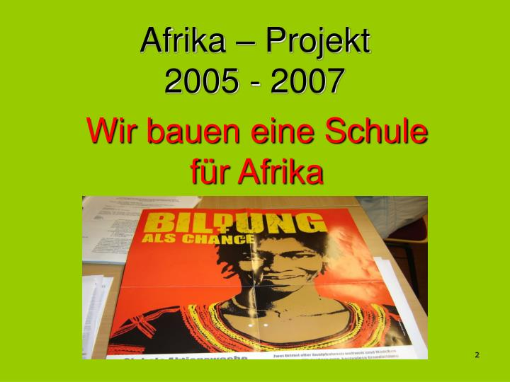 Afrika – Projekt