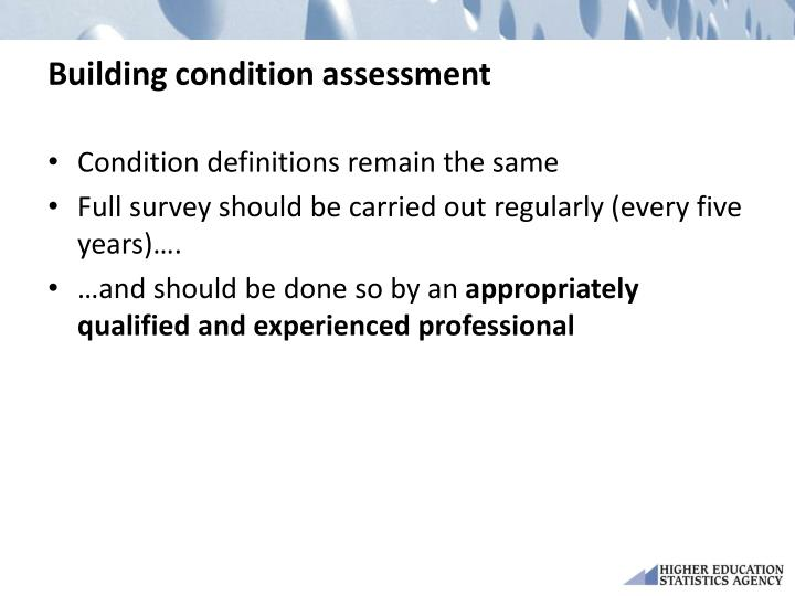 Building condition assessment