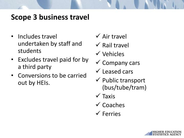 Scope 3 business travel