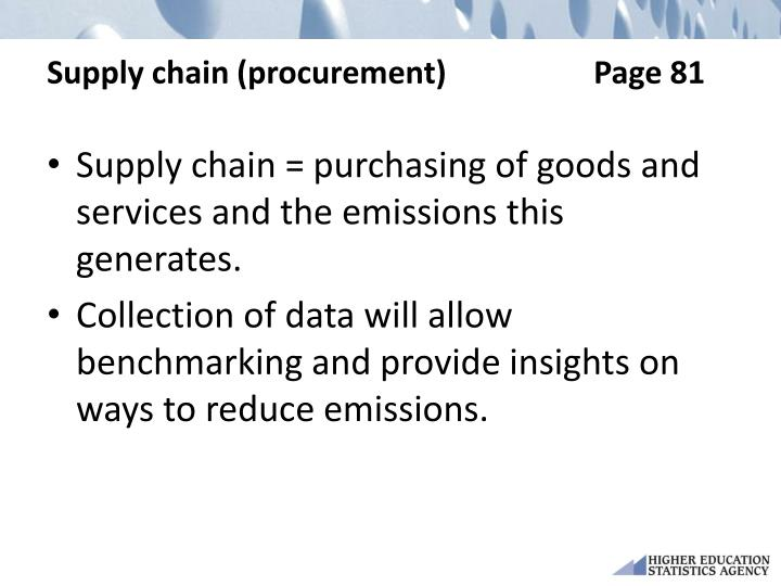 Supply chain (procurement)Page 81