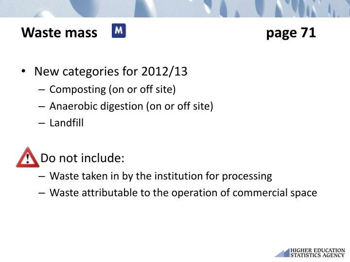 Waste masspage 71