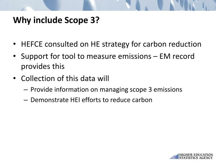 Why include Scope 3?