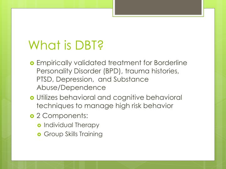 What is dbt