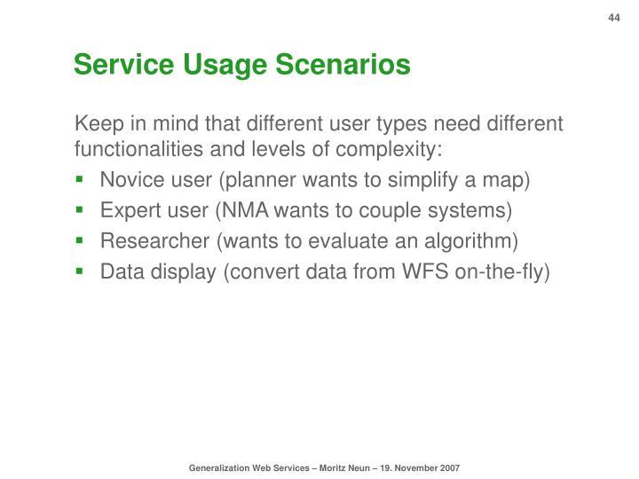 Service Usage Scenarios