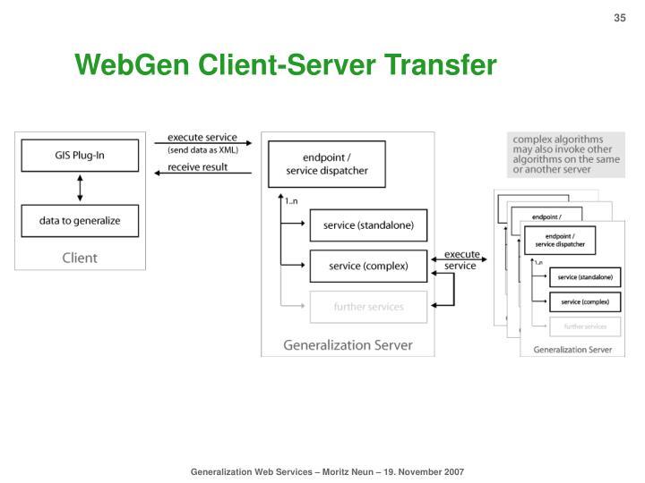 WebGen Client-Server Transfer