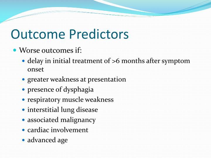 Outcome Predictors