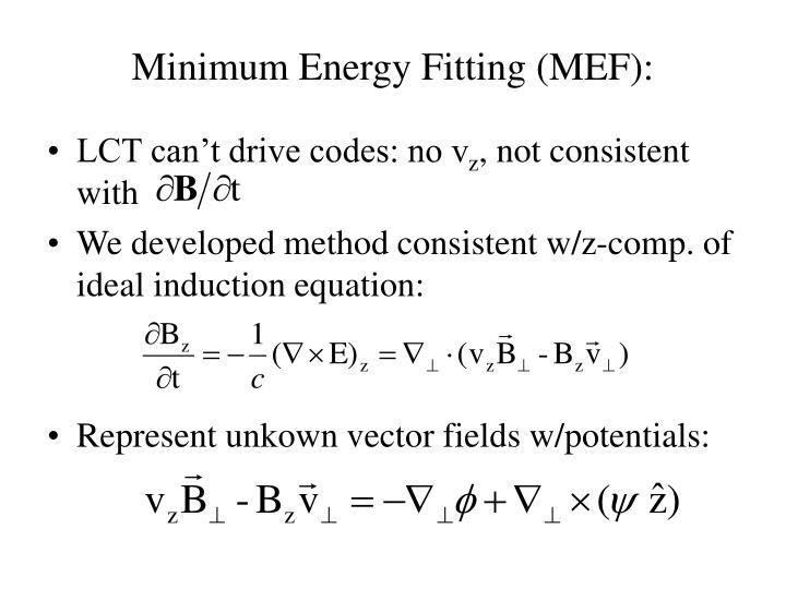Minimum Energy Fitting (MEF):