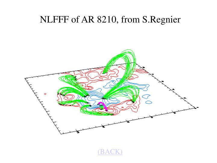 NLFFF of AR 8210, from S.Regnier