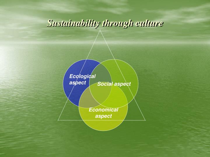 Sustainability through culture
