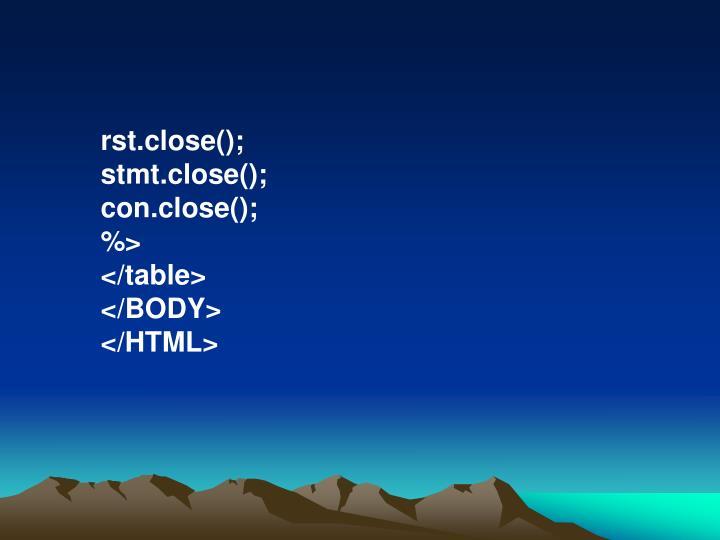 rst.close();