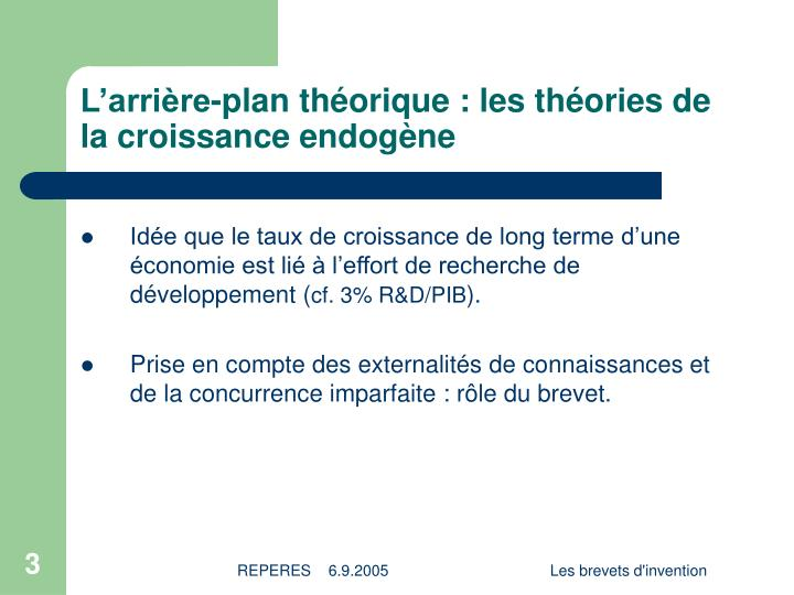 L arri re plan th orique les th ories de la croissance endog ne