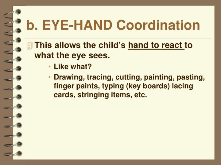 b. EYE-HAND Coordination