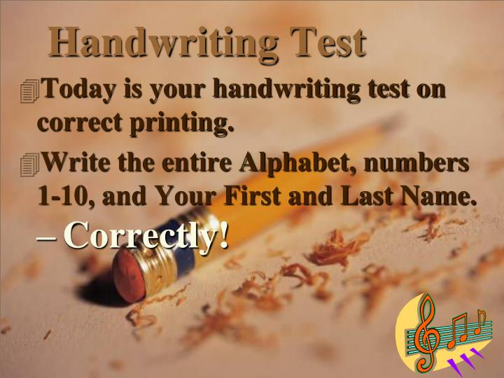 Handwriting Test