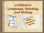 literacy l anguage reading and writing