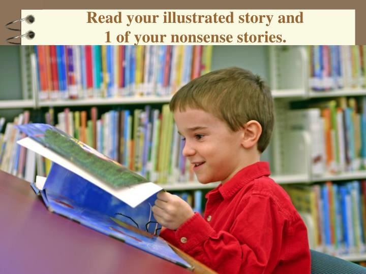 Read your illustrated story and