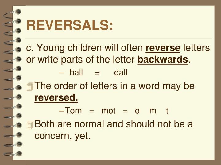 REVERSALS: