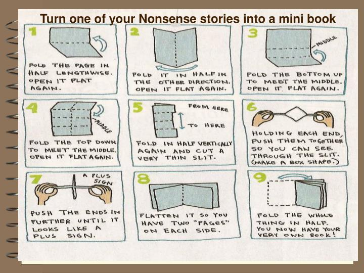 Turn one of your Nonsense stories into a mini book