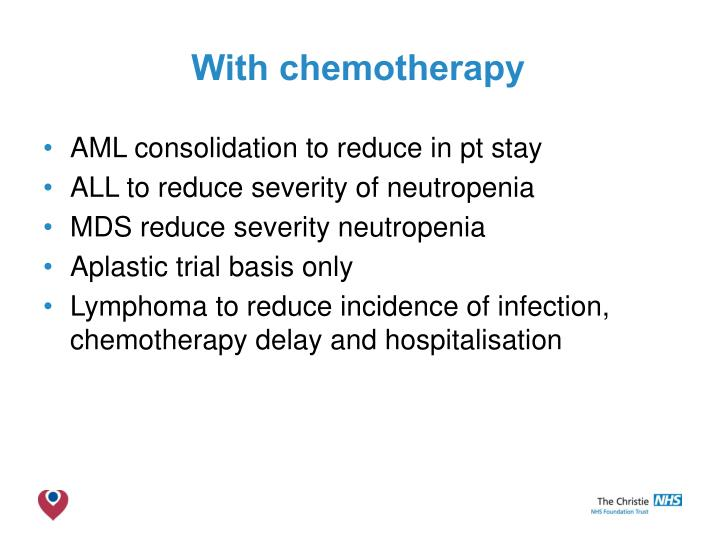 With chemotherapy