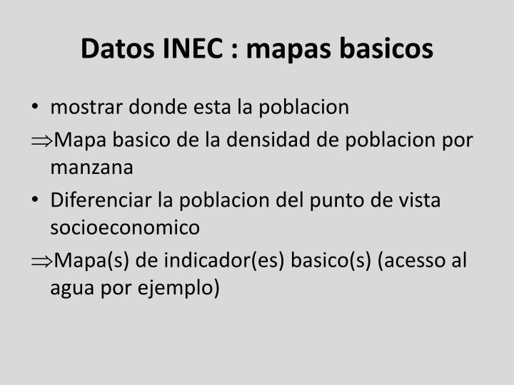 Datos INEC : mapas basicos