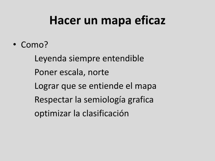 Hacer un mapa eficaz
