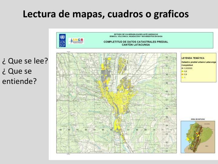 Lectura de mapas, cuadros o graficos