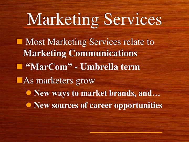 Marketing services1