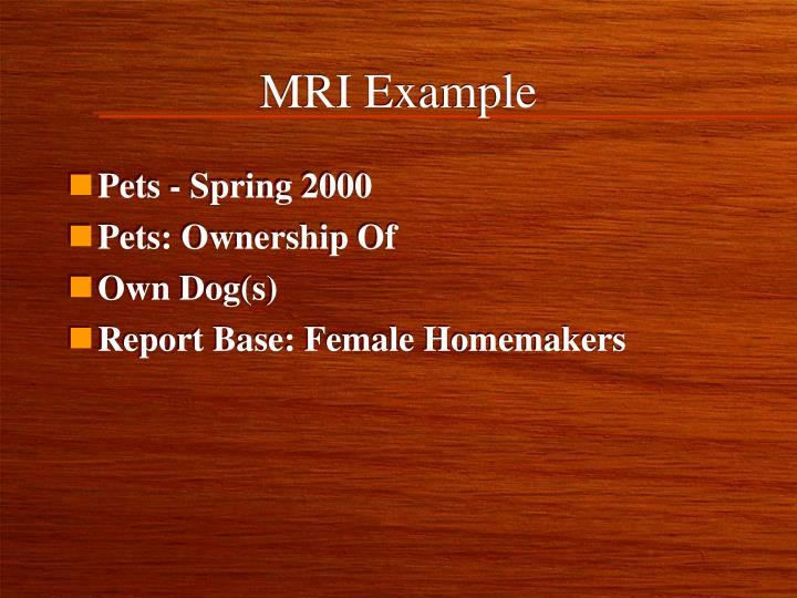 MRI Example