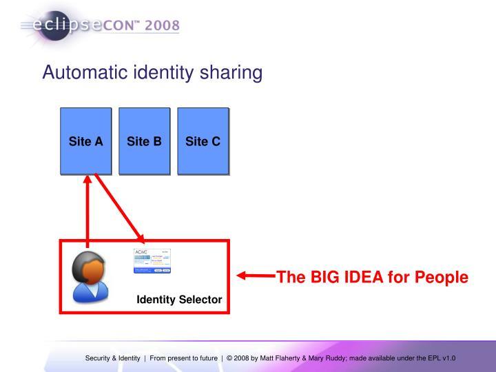 Automatic identity sharing